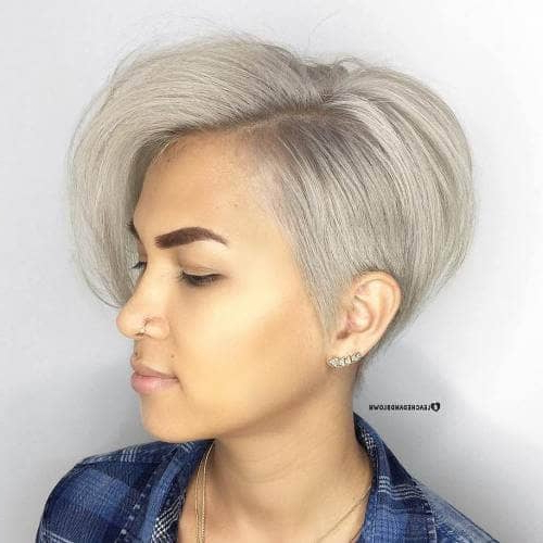 50 Pixie Haircuts You'll See Trending In 2018 Regarding Layered Pixie Hairstyles With An Edgy Fringe (View 4 of 25)