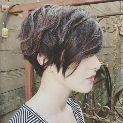 50 Pixie Haircuts You'll See Trending In 2018 With Layered Pixie Hairstyles With Nape Undercut (View 19 of 25)
