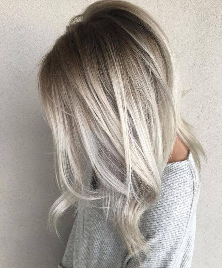 50 Platinum Blonde Hairstyle Ideas For A Glamorous 2018 With White Bob Undercut Hairstyles With Root Fade (View 16 of 25)