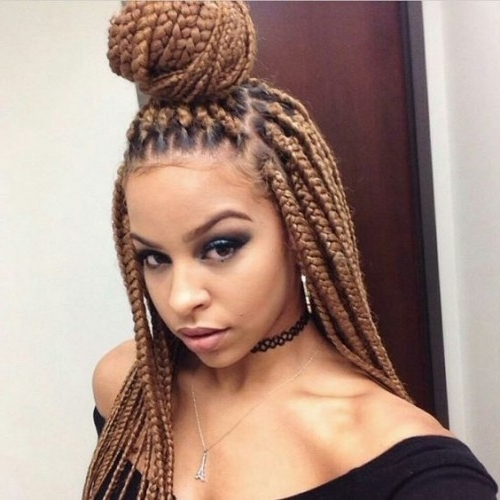 50 Poetic Justice Braids Styles | Herinterest/ With Regard To Fiercely Braided Ponytail Hairstyles (View 14 of 25)