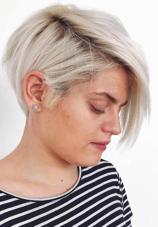 50 Trendiest Short Blonde Hairstyles And Haircuts   My Hair With Side Parted White Blonde Pixie Bob Haircuts (View 2 of 25)