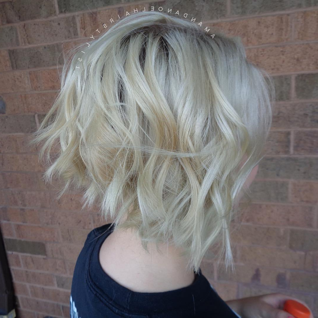 50 Trendiest Short Blonde Hairstyles And Haircuts – Page 24 In Tousled Wavy Blonde Bob Hairstyles (View 25 of 25)