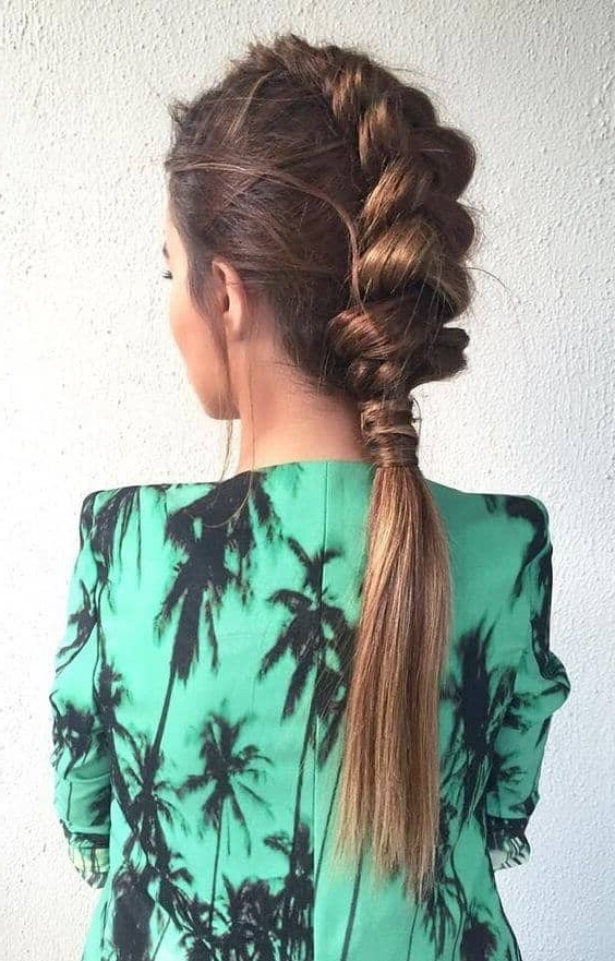 50 Trendy Dutch Braids Hairstyle Ideas To Keep You Cool In 2018 With Regard To Pony And Dutch Braid Combo Hairstyles (View 13 of 25)