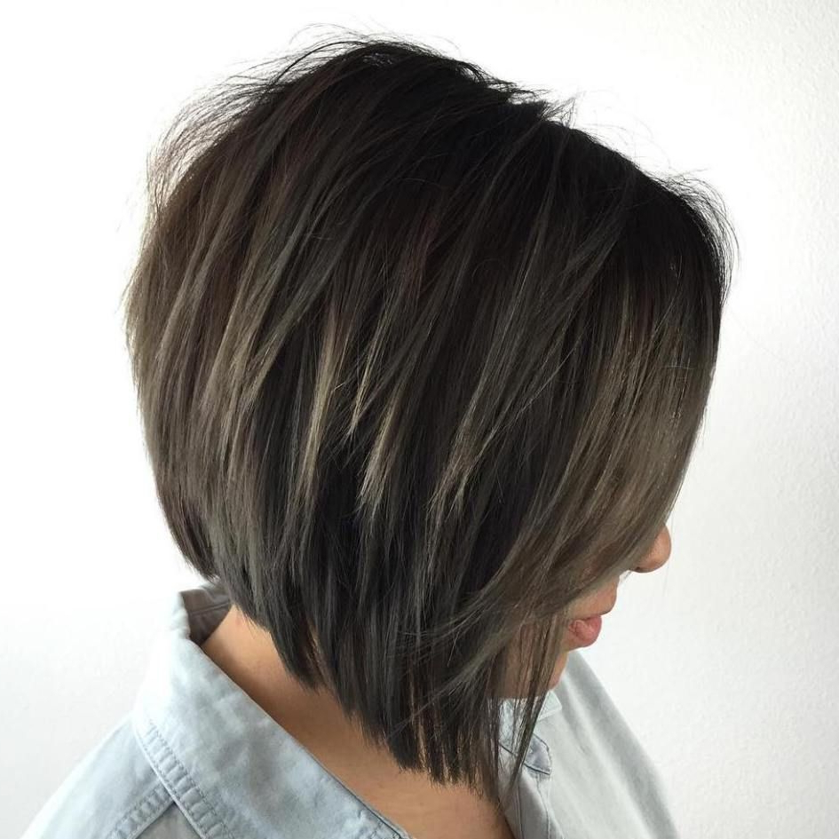 50 Trendy Inverted Bob Haircuts In 2018   Hair Cut Styles And Colors With Jaw Length Inverted Curly Brunette Bob Hairstyles (View 4 of 25)