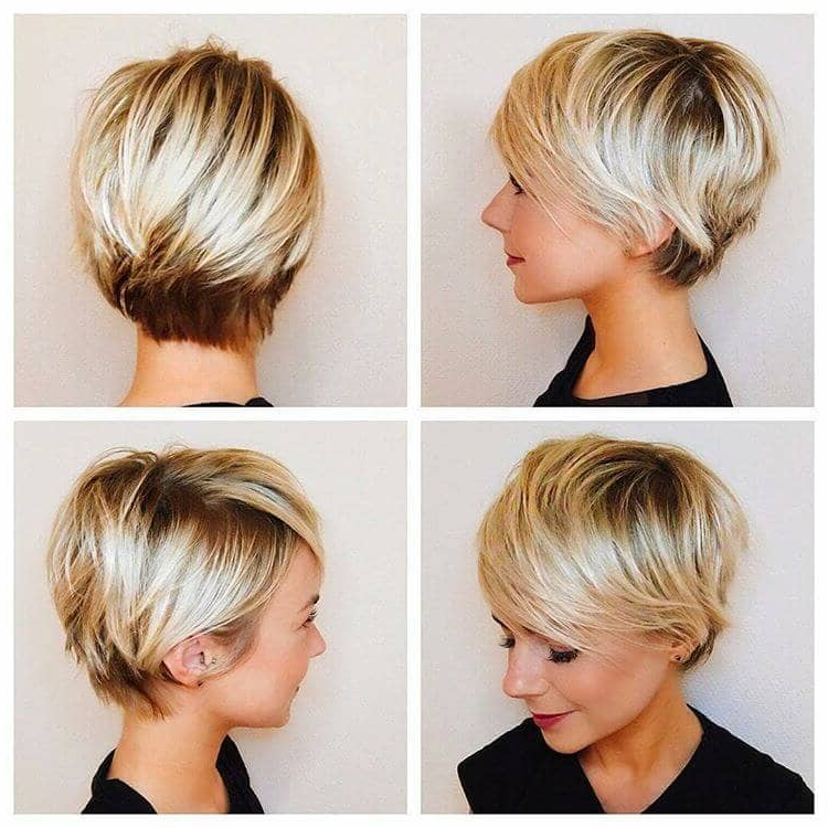 50 Ways To Wear Short Hair With Bangs For A Fresh New Look Pertaining To Side Parted White Blonde Pixie Bob Haircuts (View 18 of 25)