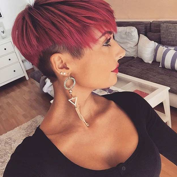 51 Best Short And Long Pixie Cuts We Love For 2018 | Stayglam For Funky Pixie Undercut Hairstyles (View 24 of 25)