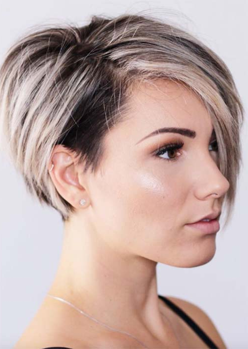 51 Edgy And Rad Short Undercut Hairstyles For Women – Glowsly With Regard To White Bob Undercut Hairstyles With Root Fade (View 11 of 25)