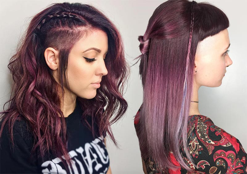51 Long Undercut Hairstyles For Women In 2018: Diy Undercut Hair Pertaining To Two Tone Curly Bob Haircuts With Nape Undercut (View 19 of 25)