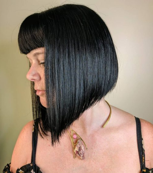 53 Popular Medium Length Hairstyles With Bangs (Updated For 2018) With Short Crisp Bronde Bob Haircuts (View 18 of 25)