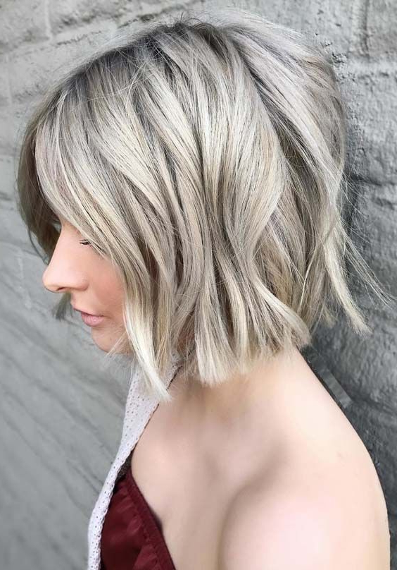 54 Best Short Blunt Bob Haircuts For 2018 | Textured Haircuts Within Blunt Bob Haircuts With Layers (View 19 of 25)