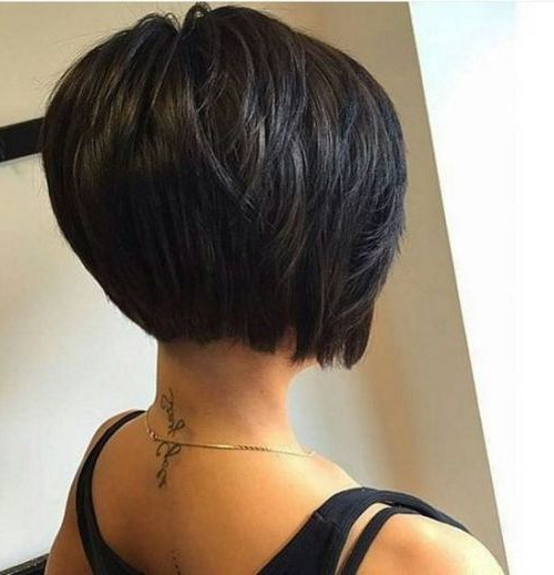 55 Cute Bob Hairstyles For 2017: Find Your Look In Black Inverted Bob Hairstyles With Choppy Layers (View 16 of 25)