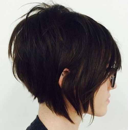 55 Cute Bob Hairstyles For 2017: Find Your Look Regarding Sleek Rounded Inverted Bob Hairstyles (View 11 of 25)