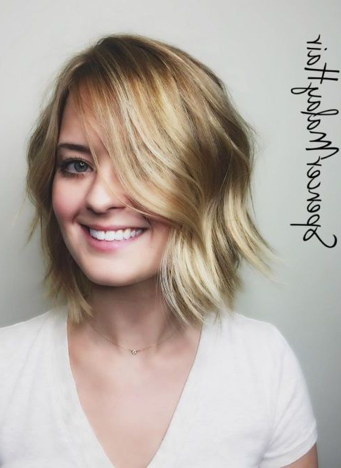 55 Cute Bob Hairstyles For 2017: Find Your Look Within Jaw Length Wavy Blonde Bob Hairstyles (View 3 of 25)