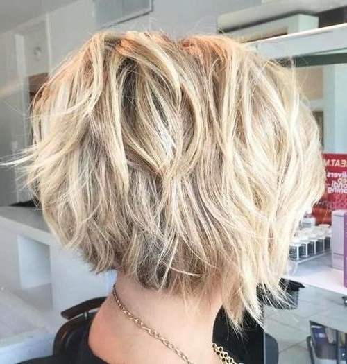 55 Cute Bob Hairstyles For 2017: Find Your Look Within Stacked Sleek White Blonde Bob Haircuts (View 25 of 25)
