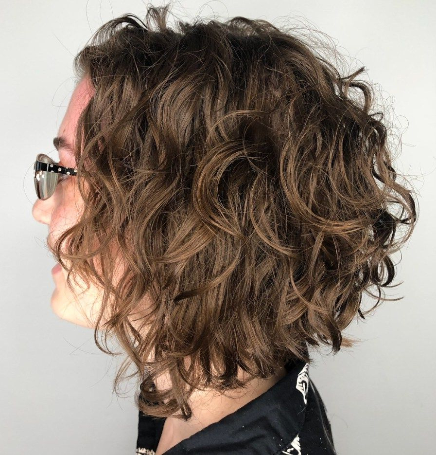 55 Different Versions Of Curly Bob Hairstyle   Hair   Pinterest Intended For Disheveled Burgundy Brown Bob Hairstyles (View 2 of 25)