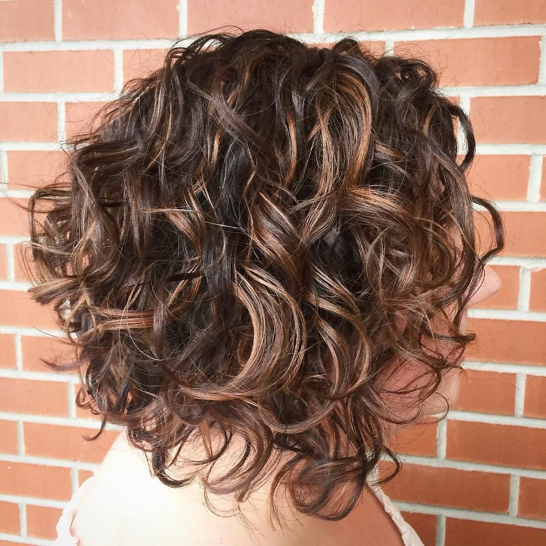 55 Different Versions Of Curly Bob Hairstyle In 2018   Hair Styles Intended For Angled Brunette Bob Hairstyles With Messy Curls (View 3 of 25)
