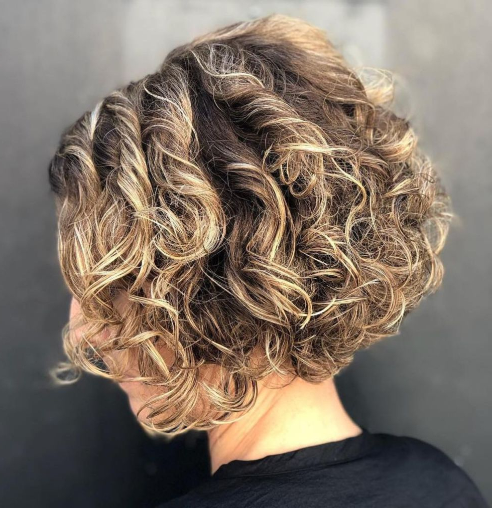 55 Different Versions Of Curly Bob Hairstyle | My Style | Pinterest With Stacked Curly Bob Hairstyles (View 12 of 25)