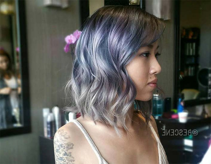 55 Incredible Short Bob Hairstyles & Haircuts With Bangs | Fashionisers Intended For Blue Balayage For Black Choppy Bob Hairstyles (View 13 of 25)