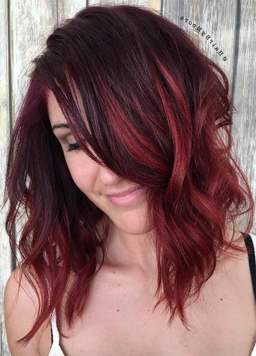 55 Incredible Short Bob Hairstyles & Haircuts With Bangs | Fashionisers With Short Red Haircuts With Wispy Layers (View 12 of 25)