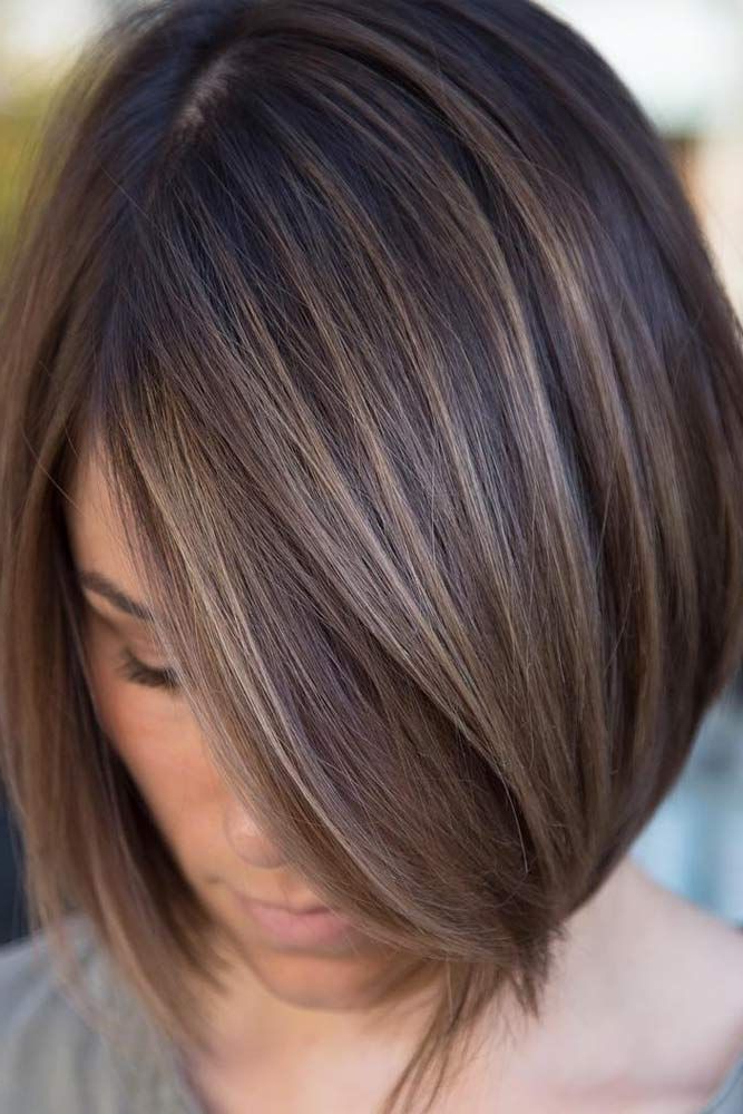 55 Popular Short Bob Haircuts Hairstyles   Hair & Beauty   Pinterest In Straight Cut Bob Hairstyles With Layers And Subtle Highlights (View 11 of 25)