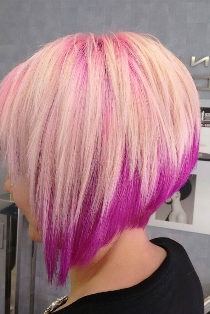55 Popular Short Bob Haircuts Hairstyles | Hair & Beauty | Pinterest Within Extreme Angled Bob Haircuts With Pink Peek A Boos (View 18 of 25)