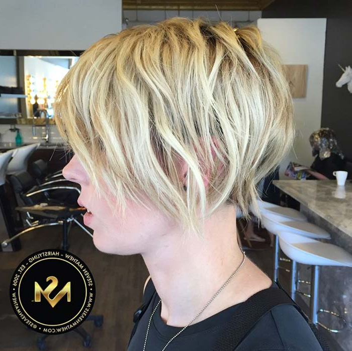 55 Short Hairstyles For Women With Thin Hair | Fashionisers With Regard To Short Crisp Bronde Bob Haircuts (View 23 of 25)