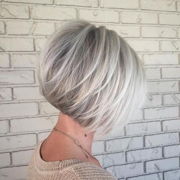 56 Stacked Bob Hairstyle For The Style Year 2018 – Style Easily In Stacked Sleek White Blonde Bob Haircuts (View 8 of 25)