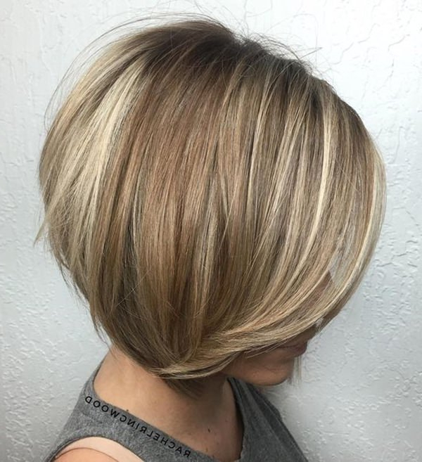 56 Stacked Bob Hairstyle For The Style Year 2018 – Style Easily Intended For Caramel Blonde Rounded Layered Bob Hairstyles (View 11 of 25)