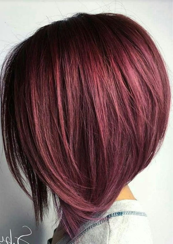 56 Stacked Bob Hairstyle For The Style Year 2018 – Style Easily Within Perfectly Angled Caramel Bob Haircuts (View 15 of 25)