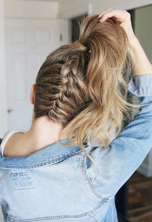 57 Amazing Braided Hairstyles For Long Hair For Every Occasion – Glowsly Inside Flowy Side Braid Ponytail Hairstyles (View 14 of 25)