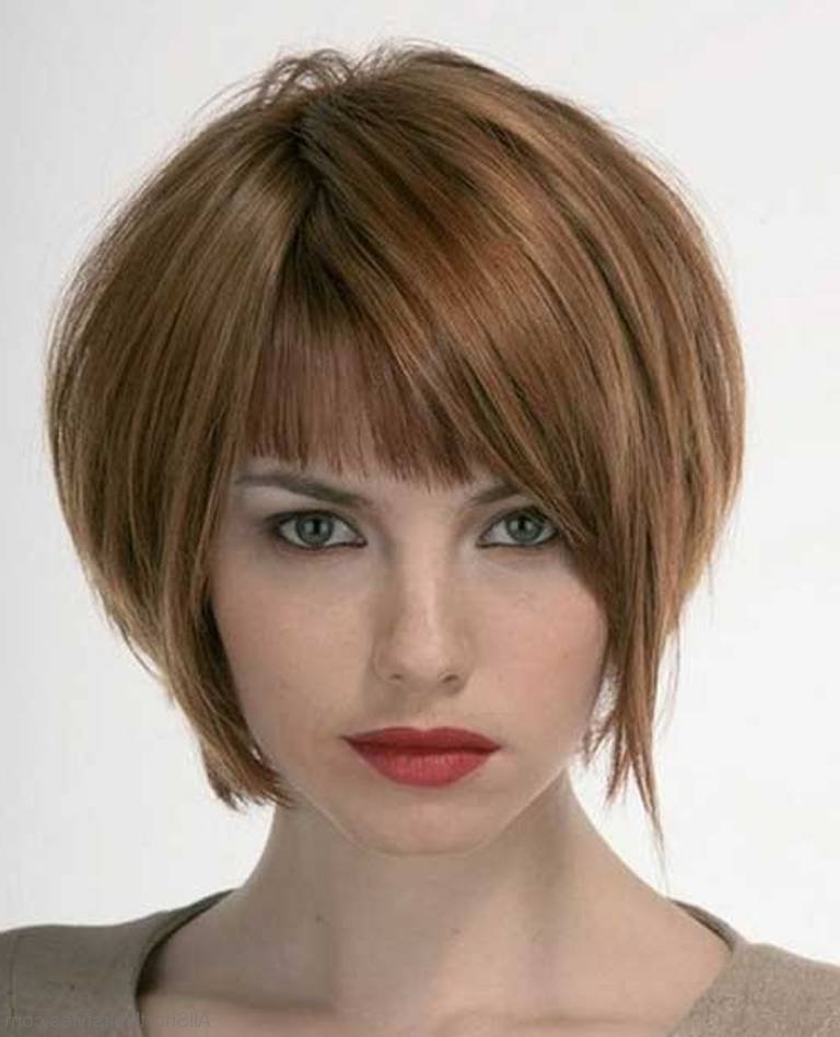 57 Cool Short Bob Hairstyle With Side Swept Bands In Short Tapered Bob Hairstyles With Long Bangs (View 7 of 25)