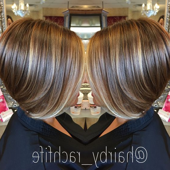 57 Trendy Short Hair Cuts For Women 2018   Honey Face   Pinterest Within Short Stacked Bob Hairstyles With Subtle Balayage (View 22 of 25)