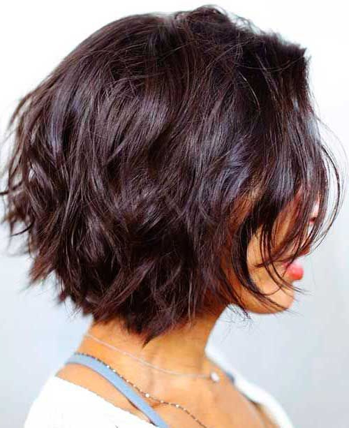 58 Short Bobs Hair Cuts Hairstyles 2018   Brown Hair With Caramel With Regard To Perfectly Angled Caramel Bob Haircuts (View 10 of 25)