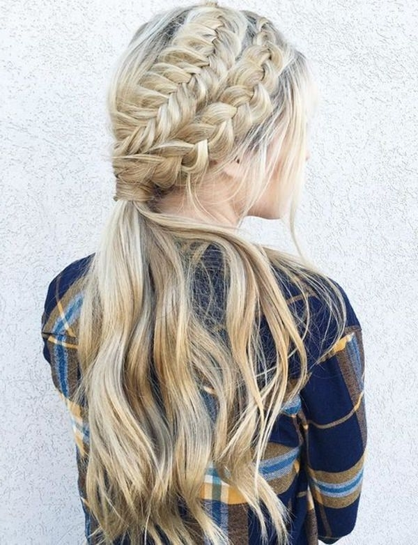 58 Stunning And Inspiring Dutch Braid Hairstyles That You Will Love Pertaining To Double French Braid Crown Ponytail Hairstyles (View 12 of 25)
