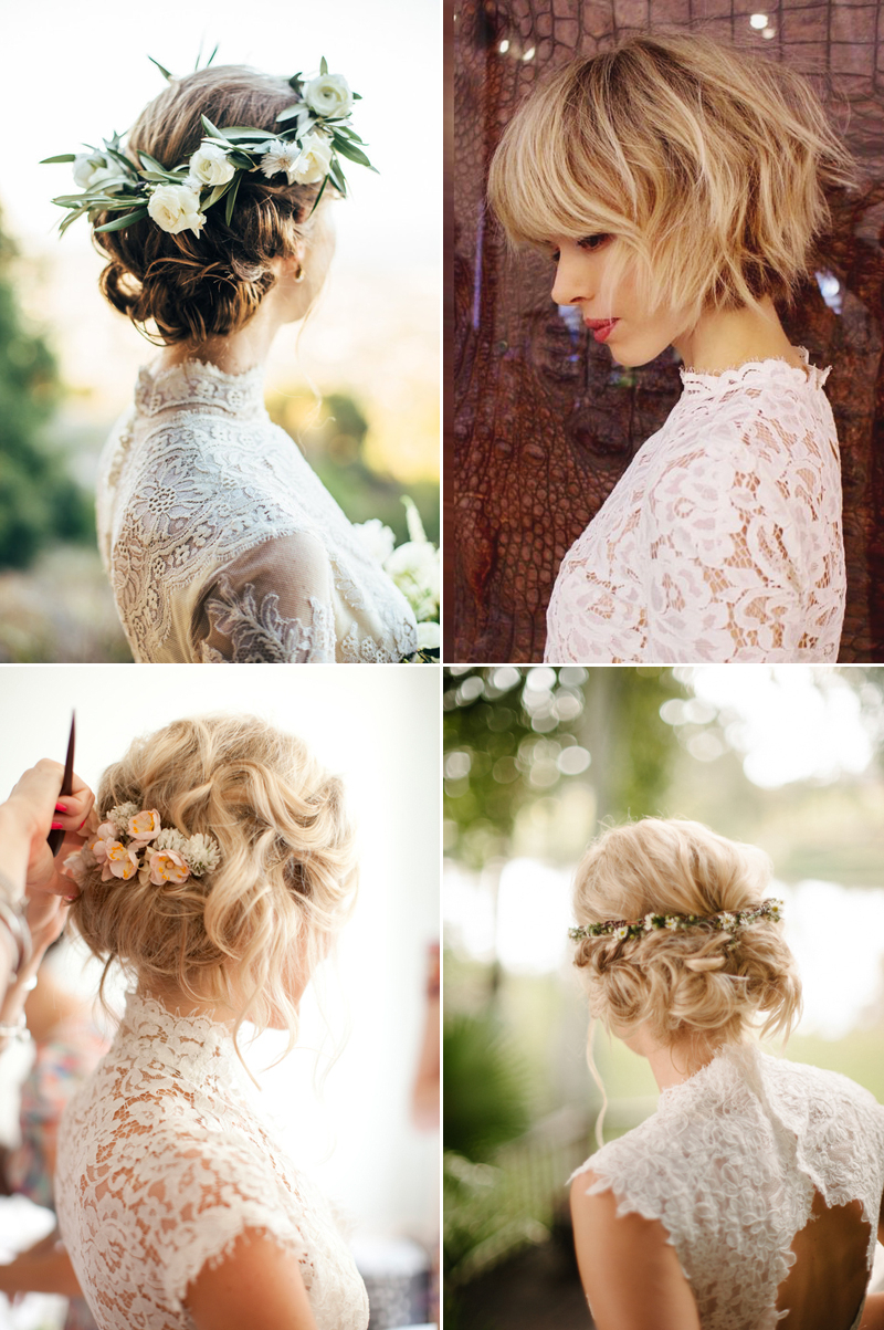 6 Beautiful Wedding Dress Styles For Brides With Short Hair In Hairstyles For Short Hair Wedding (Gallery 21 of 25)