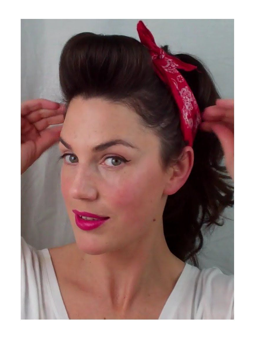 6 Pin Up Looks For Beginners ( Quick And Easy Vintage/ Retro With Vintage Hairstyle For Short Hair (Gallery 18 of 25)