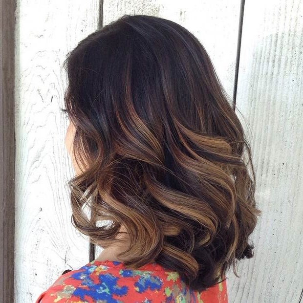 60 Balayage Hair Color Ideas With Blonde, Brown, Caramel And Red Pertaining To Long Feathered Espresso Brown Pixie Hairstyles (View 12 of 25)