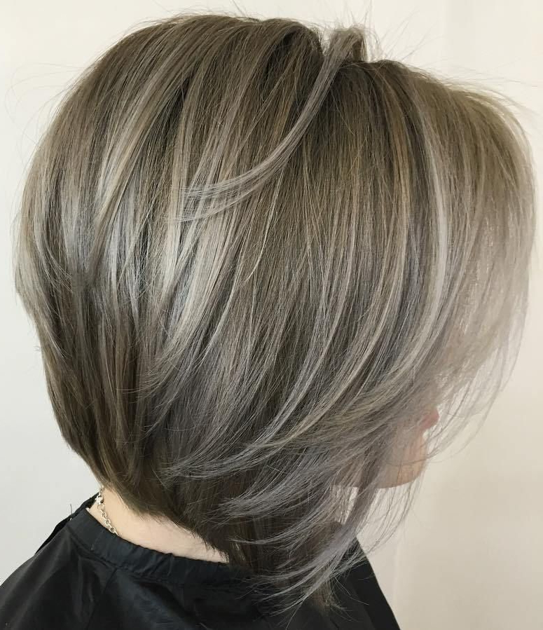 60 Beautiful And Convenient Medium Bob Hairstyles | Hair | Pinterest In Silver Balayage Bob Haircuts With Swoopy Layers (Gallery 2 of 25)