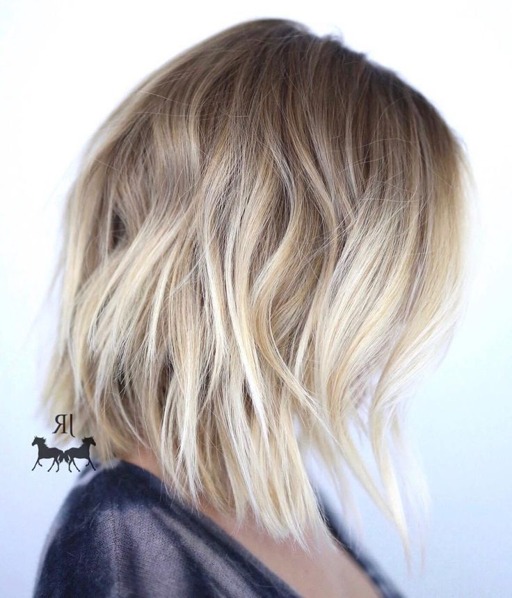 60 Beautiful And Convenient Medium Bob Hairstyles | Hair | Pinterest Within Choppy Rounded Ash Blonde Bob Haircuts (View 4 of 25)