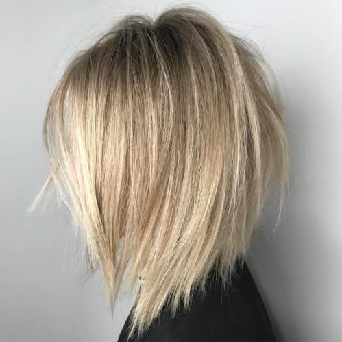 60 Beautiful And Convenient Medium Bob Hairstyles In 2018 | Beauty Within Hazel Blonde Razored Bob Hairstyles (View 3 of 25)