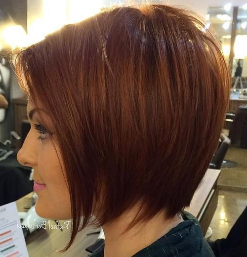 60 Beautiful And Convenient Medium Bob Hairstyles In 2018 | Products In Undercut Bob Hairstyles With Jagged Ends (View 7 of 25)
