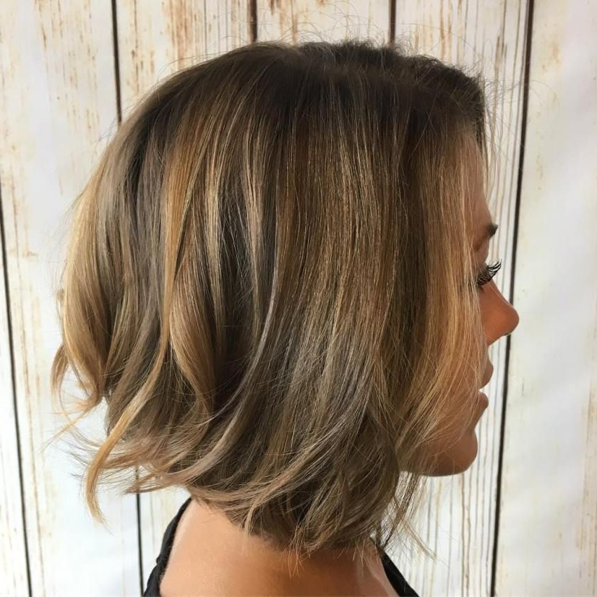 60 Beautiful And Convenient Medium Bob Hairstyles In 2018 | Work It Regarding Dynamic Tousled Blonde Bob Hairstyles With Dark Underlayer (Gallery 6 of 25)