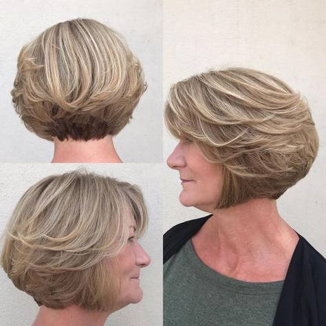 60 Best Hairstyles And Haircuts For Women Over 60 To Suit Any Taste For Ash Blonde Bob Hairstyles With Feathered Layers (Gallery 24 of 25)