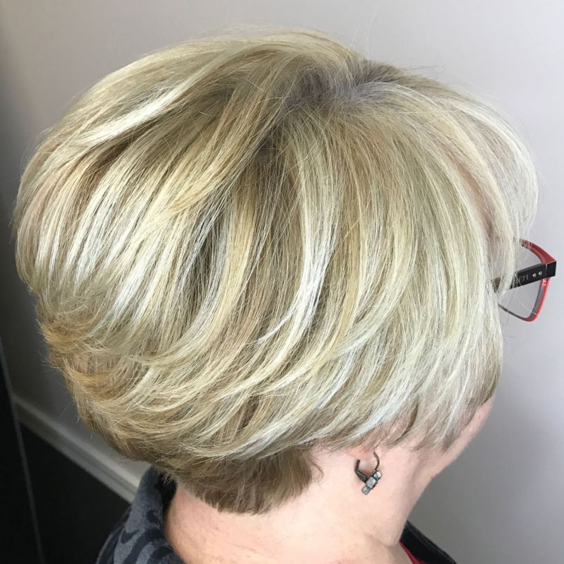 60 Best Hairstyles And Haircuts For Women Over 60 To Suit Any Taste With Bronde Balayage Pixie Haircuts With V Cut Nape (View 24 of 25)