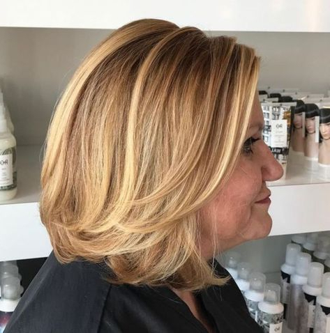 60 Best Hairstyles And Haircuts For Women Over 60 To Suit Any Taste With Regard To Caramel Blonde Rounded Layered Bob Hairstyles (View 5 of 25)