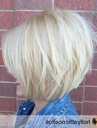 60 Best Short Bob Haircuts And Hairstyles For Women In 2018 | Big With Angled Burgundy Bob Hairstyles With Voluminous Layers (Gallery 13 of 25)