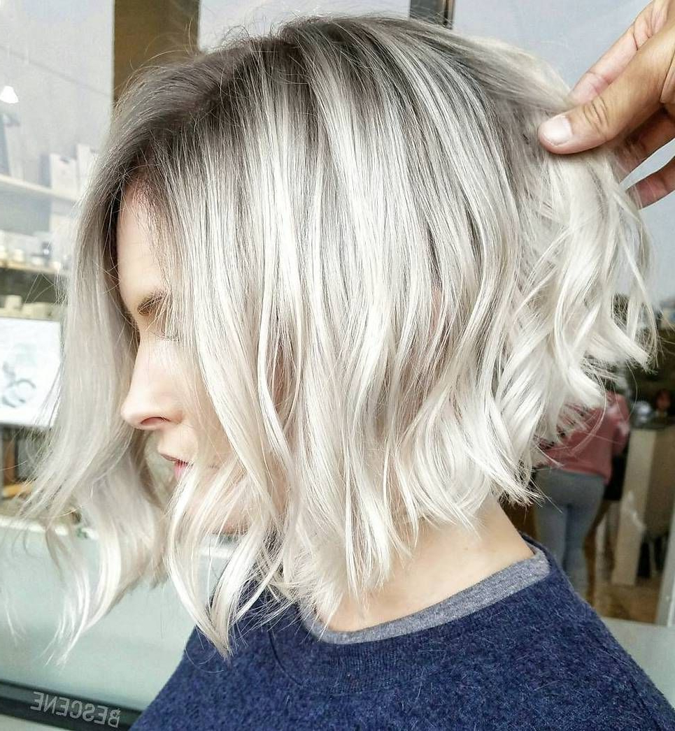 60 Best Short Bob Haircuts And Hairstyles For Women In 2018 | Hair Throughout White Blonde Curly Layered Bob Hairstyles (Gallery 1 of 25)
