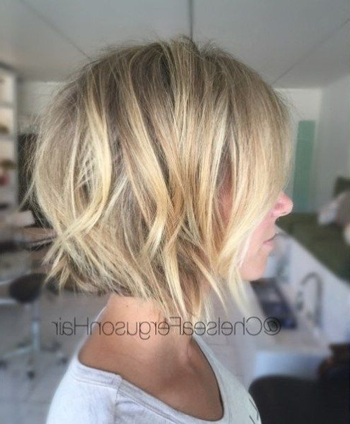 60 Best Short Bob Haircuts And Hairstyles For Women In 2018 Intended For Short Bob Hairstyles With Piece Y Layers And Babylights (Gallery 4 of 25)