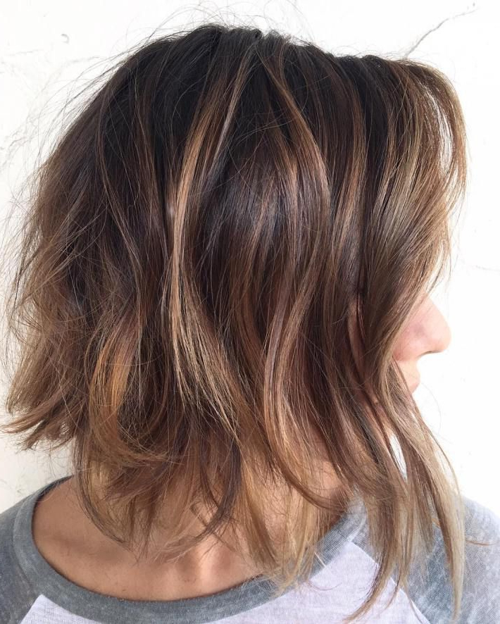 60 Chocolate Brown Hair Color Ideas For Brunettes | Caramel Brown Intended For Layered Caramel Brown Bob Hairstyles (View 7 of 25)