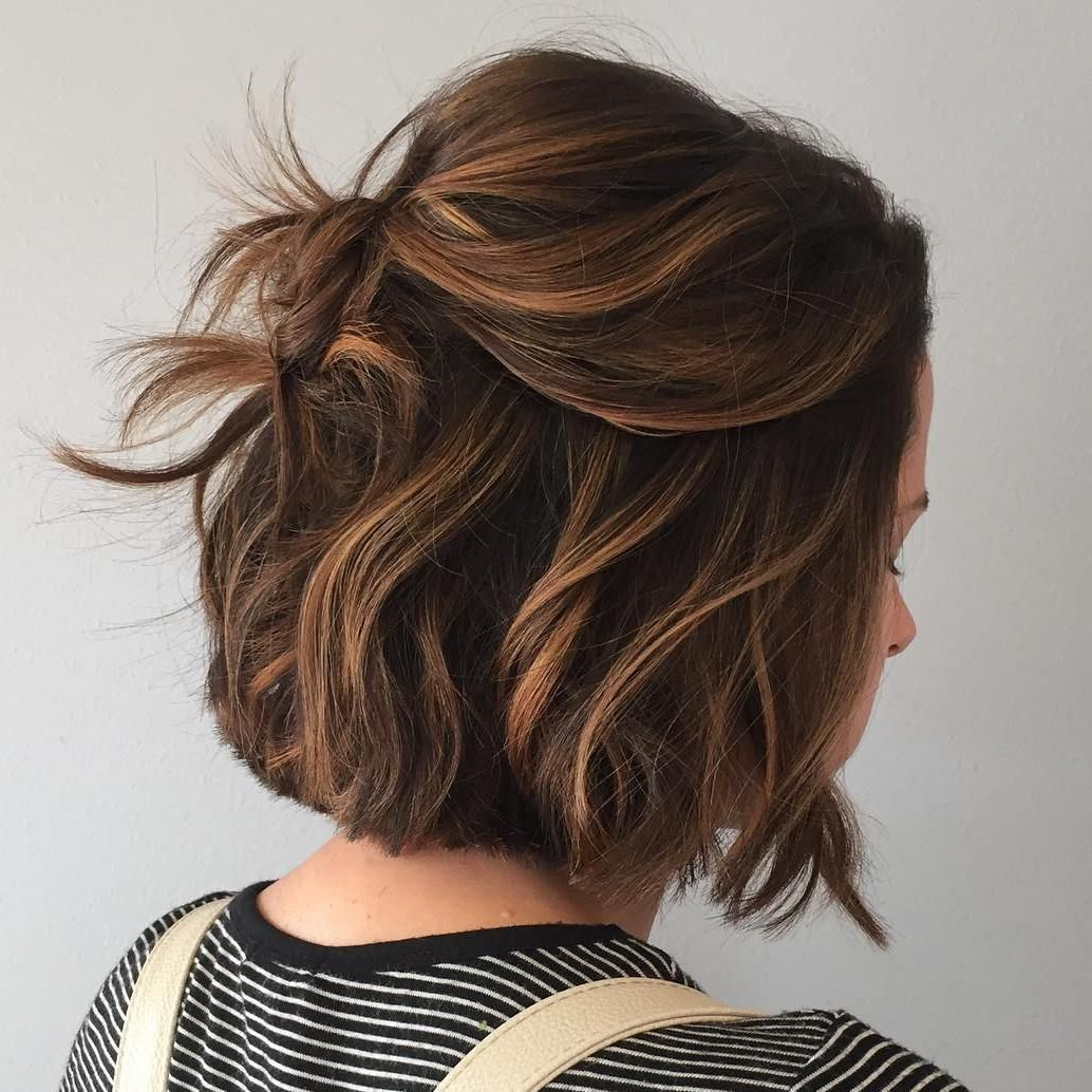 60 Chocolate Brown Hair Color Ideas For Brunettes In 2018 | Fashion Intended For Curly Dark Brown Bob Hairstyles With Partial Balayage (Gallery 9 of 25)